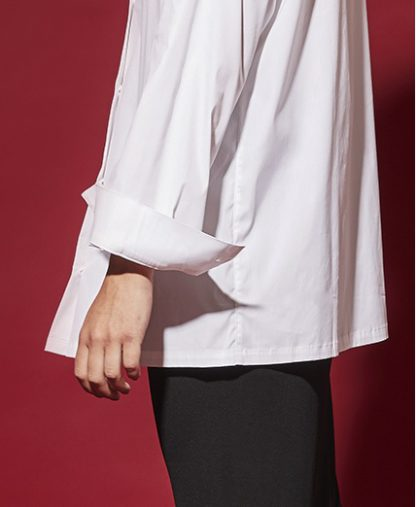 oversized white shirt detail